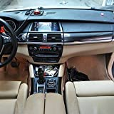 LUVCARPB Intérieur de la Voiture Centrale Panneau de contrôle Porte poignée Autocollants Stickers Voiture Style Accessoire, Fit pour BMW X5 E70 X6 E71