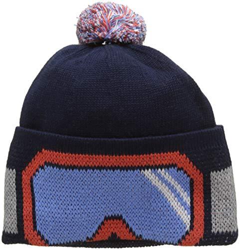 Hackett London Kids SKI Bobble Hat, Sombrero para Niños, Azul (Navy 595) Talla única