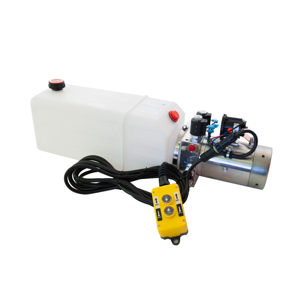 Double Acting OFFicial mail Surprise price order 12V Hydraulic Power Unit 8 Quart Poly Reservo with