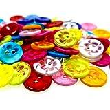 QINGRUI Accessori Vestiti 100 pz 13mm Mix Color Plastic Pulsanti Apparecchi per Bambini Forniture per Cucire Accessori per Cucire Scrapbooking Fai da Te .Decorazione Fatta a Mano