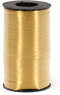 Berwick 3/8-Inch Wide by 250 Yard Spool Super Curl Crimped Splendorette Curling Ribbon, Holiday Gold