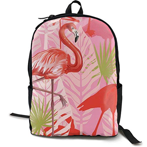 XCNGG Zaino per stampa full frame per adulti Zaino casual Zaino per scuola NiYoung Travel Backpack Laptop Backpack Large Diaper Bag - Pink Flamingos Backpack School Backpack for Women & Men