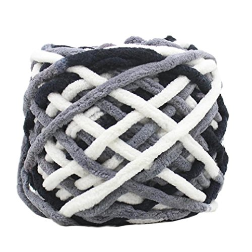 Huihong 100 Gramm schrumpfungsfest Kammgarn Super Weiche Glatte Naturseide Wolle Garn Stricken Pullover Stricken Chenille Garn (D-28)