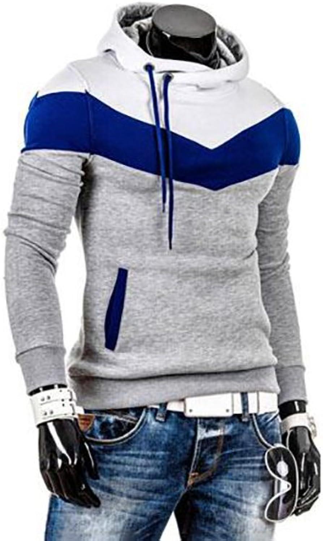 Men's T Shirts Plus Size Sports Active Long Sleeves Slim Hoodie  color Block Turtleneck Fashion Casual Business Cotton Slim Shirt (color   4, Size   XL)