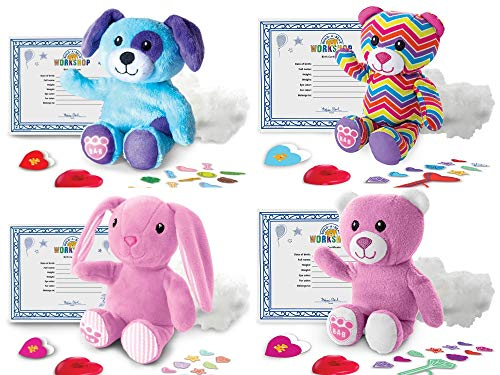 Spin Master Build-a-Bear Workshop Furry Friends - 4 Verschiedene Stofftiere im Set