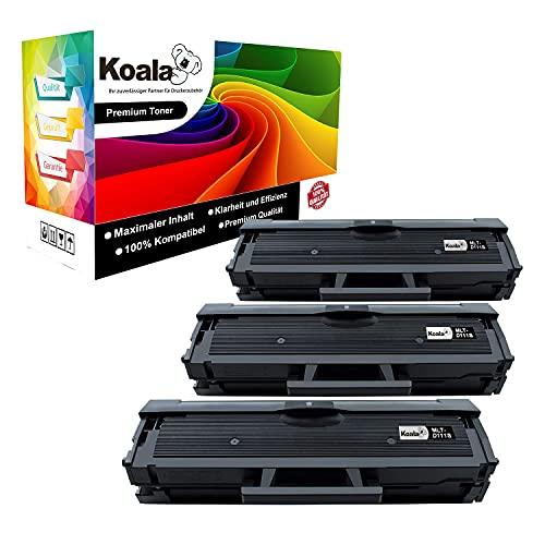 Koala Compatibili Cartuccia Toner Sostituzione per Samsung 111S MLT-D111S per Xpress M2070 M2070FW M2026W M2026 M2070W M2020 M2022W M2022 M2625 M2020W M2070F (Nero, 3-Pack)