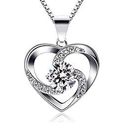 Material: 925 Sterling Silver, 5A Cubic Zirconia,Box Chain. Size: 19.6mm*15mm. The Sterling Silver Material itself is Relatively Soft, and it Needs to be Handled Gently to Avoid Scratching. When you Wear it, If it is Oxidized, Blackened or Darkened, ...