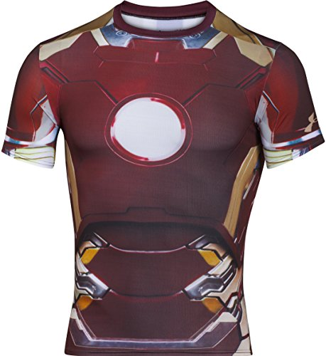 Under Armour HeatGear Alter Ego Shirt de Fonction Homme, Rouge/Gold, FR Taille Fabricant : XL (X-Large)