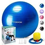 palla da ginnastica/palla fitness, gymbopro palla da ginnastica con pompa rapida,palla da yoga sedie da scrivania a casa palla equilibrio per fitness pilates palestra di yoga(55 cm, blu)