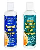 Aramith Bundle of 2 Items Billiard Ball Cleaner & Aramith Billiard Ball Restorer 8.4 fl.oz. Bottles