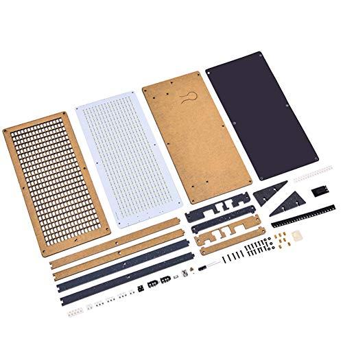 Leeofty HU-008 LED-Musikspektrum-Produktionskit Abschnitt 2416 Rhythmisch detonierende Blitzteile DIY-Schweißen DSP-Decodierungsalgorithmus Uhranzeige DIY-Werkzeuglöt-Übungsset Haushaltshaushalt (5