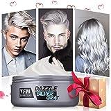 Haarwachs, Y.F.M. Unisex DIY Haarformung Silbergraue Cream, Frische und Natürliche Frisur Wax...