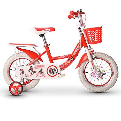 CivilWeaEU Bicicleta para Niños para Niñas con Estabilizadores Y Canasta Patinete Andador Deslizante Bicicleta para Dama De Altura Ajustable De 12 A 18 Pulgadas para Niños De 2 A 11 Años