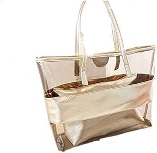 Women's Beach waterproof transparent bag.(JP/Gold)
