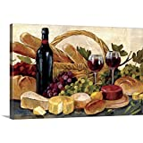 wine and cheese canvas - Tuscan Evening Wine Canvas Wall Art Print, 36