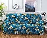 Funda Sofas 2 y 3 Plazas Flores Silvestres Azules Fundas para Sofa con Diseño Universal,Cubre Sofa Ajustables,Fundas Sofa Elasticas,Funda de Sofa Chaise Longue,Protector Cubierta para Sofá