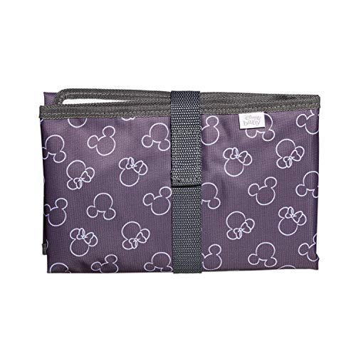 J.L. Childress Disney Baby Full Body Portable Changing Pad for Baby, Mickey Minnie Grey