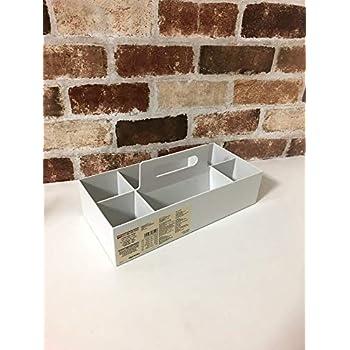 無印良品 ポリプロピレン収納キャリーボックス・ワイド・ホワイトグレー 約幅15×奥行32×高さ8cm