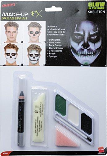 Smiffys Kit de Esqueleto Brillo en la Oscuridad, sobrecito d