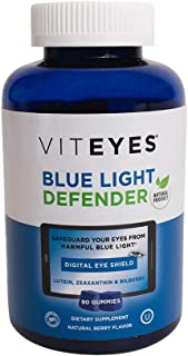 VITEYES Blue Light Defender Gummy, Promotes Eye Health and Protects Vision, 90 Count - Single Daily Dose Eye Vitamin, Allergen Free