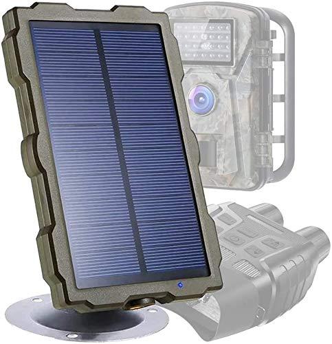 WEIFLY Panel Solar de la cámara de Rastro de la Vida Silvestre con el Soporte IP56 a Prueba de Agua para la energía de la cámara de Caza, 6V 1500mAh Banco de energía Aire Libre portátil Recargable