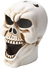 Amosfun 1 Pc Skull Head Ornament Skull Candle Holder for Table Decorations Haunted House Ornament Halloween Party Decoration