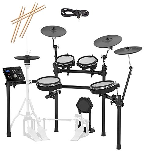 Roland TD-25KV-S Electronic Drum Set Bundle with 3 Pairs of Sticks, Audio Cable, and Austin Bazaar Polishing Cloth