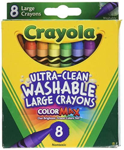 Crayola Washable Crayons, Large, 8 Colors