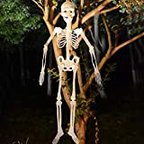 Popmall Glow in The Dark Skelton Decor for Halloween Party