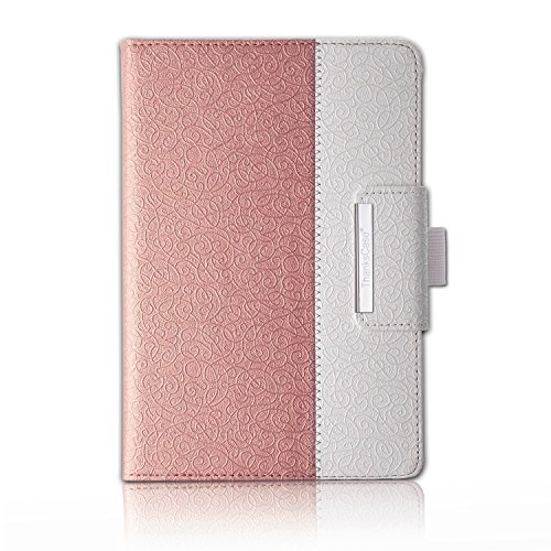 Thankscase Rotating Case for Samsung Galaxy Tab A 8.0 2015 Release (Not Fit 2017 2018 Release) with Wallet with Hand Strap with Smart Cover Function for Tab A 8.0 Case .(Rose Gold 2)