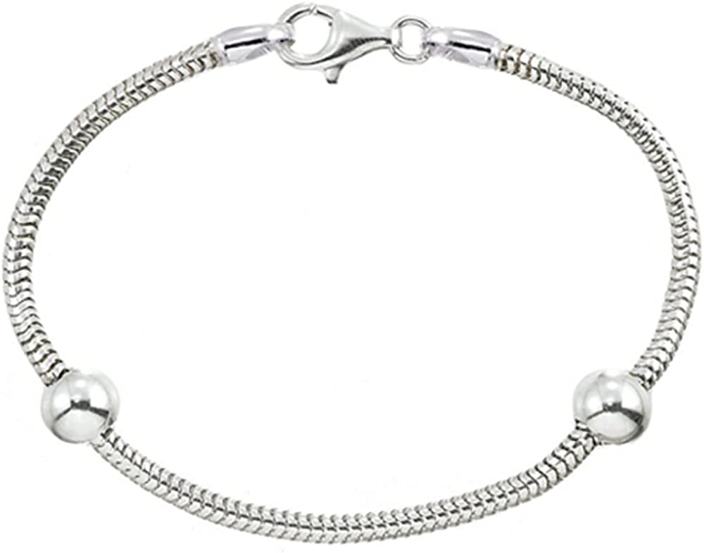 Zable Sterling Silver Starter Ranking TOP6 Long Beach Mall Bracelet Smart Beads 2 with