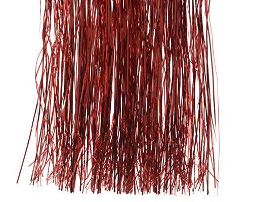 1St. Lametta 20x105cm (rot) // Weihnachtsgirlande Silvester Karneval Weihnachten Deko Christbaumschmuck Girllande