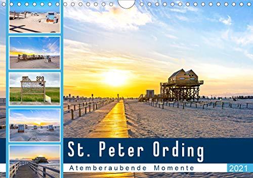 St. Peter Ording - Atemberaubende Momente (Wandkalender 2021 DIN A4 quer)