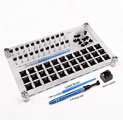 33 Schalter Tester Schalter Öffner Acryl Lube Station DIY Double Deck Removal Plattform Tastenkappen Puller für Custom Gateron Cherry Mechanical Keyboard