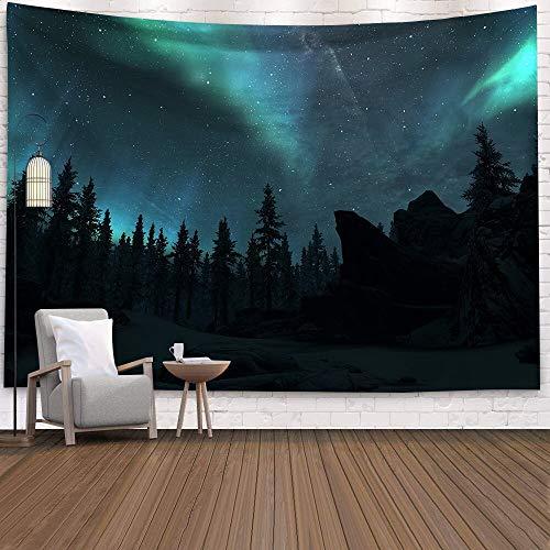 Cielo estrellado tapiz de pared psicodélico aurora galaxy tapiz montado en la pared hogar colgar en la pared manta de tela A3 180x200cm