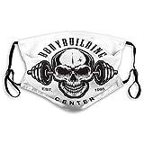 Na Wiederverwendbare M-förmige Nasenclip-Maske Vintage Bodybuilding-Label-Konzept Vintage...