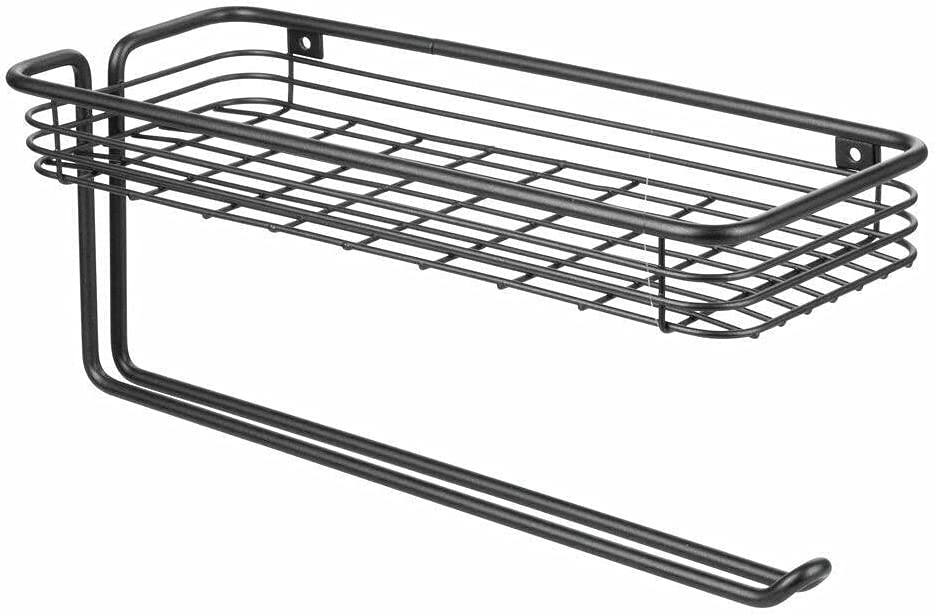 Metal Wall Mount Paper Towel Holder - sold out Matte Rack B Seattle Mall Shelf Spice