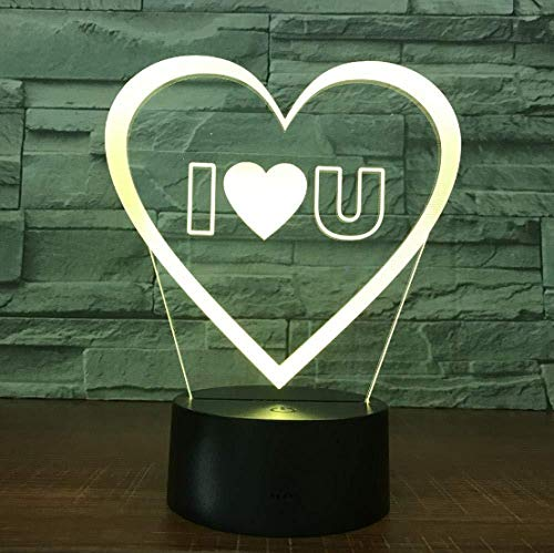 3D Slideshowi Love You Sweet Lover Hart Ballon 3D LED Romantische lamp decoratief kleurrijk nachtlampje bruid verjaardagscadeau