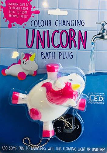 Novelty Gifts - Tapón de baño con diseño de Unicornio Que Cambia de Color