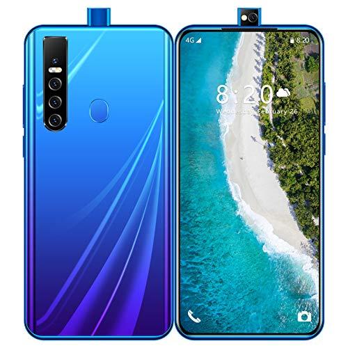 スマートフォンAndroid 10.0 7.7mm薄型ボディ 4GデュアルSIM携帯電話6.7インチ5600mAhバッテリーフェイスアンロック16MP + 32MP カメラ8GB RAM + 128GB ROM 顔認証 指紋認証 技適認証済