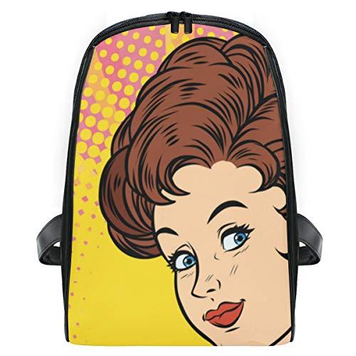 ELIENONO Retro Dame bietet Getränk-Wodka an,Laptop Rucksack für Männer Schulrucksack Multifunktionsrucksack Mini Tagesrucksack für Schule Wandern Reisen Camping