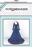 Patrón de costura vestido flamenca mujer de Nejas con vuelo para hacerlo tú misma. Tutorial en vídeo para ayudarte a realizarlo. Talla 36 a la 52. Patrón multitalla en papel.…
