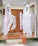 Halloween Indoor Outdoor Decoration - Set of 2 Giant Hanging Ghosts