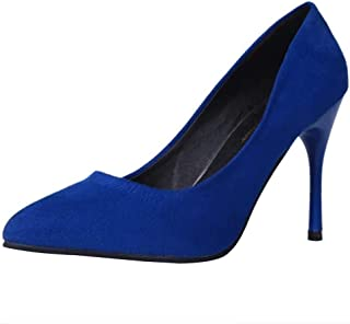 d15d424eab14 OSYARD-Chaussure Escarpins Femme à Talon Aiguille 10cm sur Suede Bout  Pointu Chaussure de Ceremonie