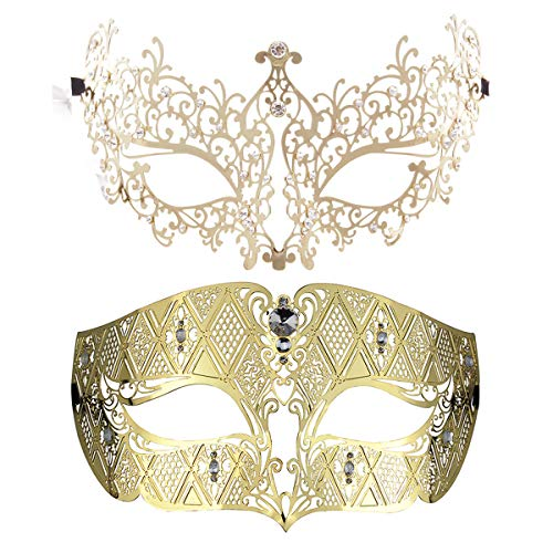 Black BLEVET Veneciana M/áscara Mardi Gras M/áscara Carnaval Veneciano M/áscara Navide/ña Disfraz de Bola de fantas/ía M/áscara MZ061