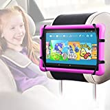 Car Headrest Mount Silicon Holder - Universal Tablet Holder for Car Kids Tablets Car Mount Angle-Adjustable Car Headrest Holder Fits All 7-9.7 inch Tablets and Compatible with Nintendo Switch