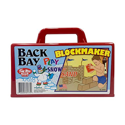 Back Bay Play Snow Fort Building - Sand Castle Block Maker, Beach Toys for Kids, Fort Building Kit - All Ages -Indoor/Outdoor – Made in USA (Cherry Red)