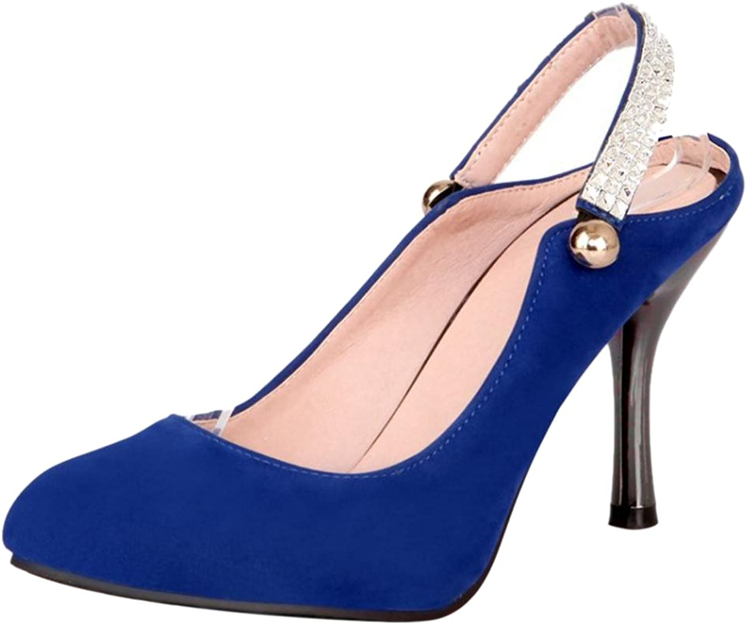 CarziCuzin Women Comfort Stiletto Mules Pumps