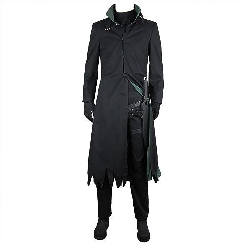 Darker Than schwarz  The schwarz Contractor Hei(Li Shenshun) Costume Suits US Men 5