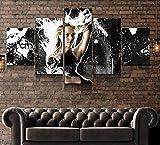 BHJIO Impresiones En Lienzo 5 Piezas Chicas De La Ciudad del Pecado Poster HD En Lienzo Modular Modern Interior Decorations Wall Art-Tamaño Regalo 150 * 80Cm.